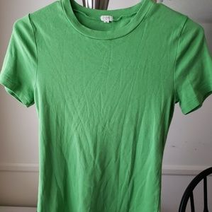 J. Crew Apple Green Tshirt Sz M EUC